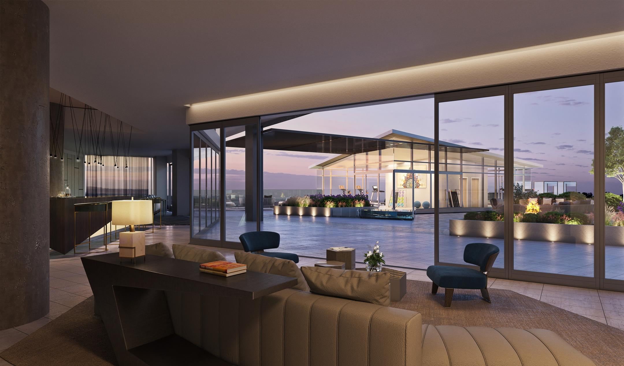Club Room at Amenity Deck