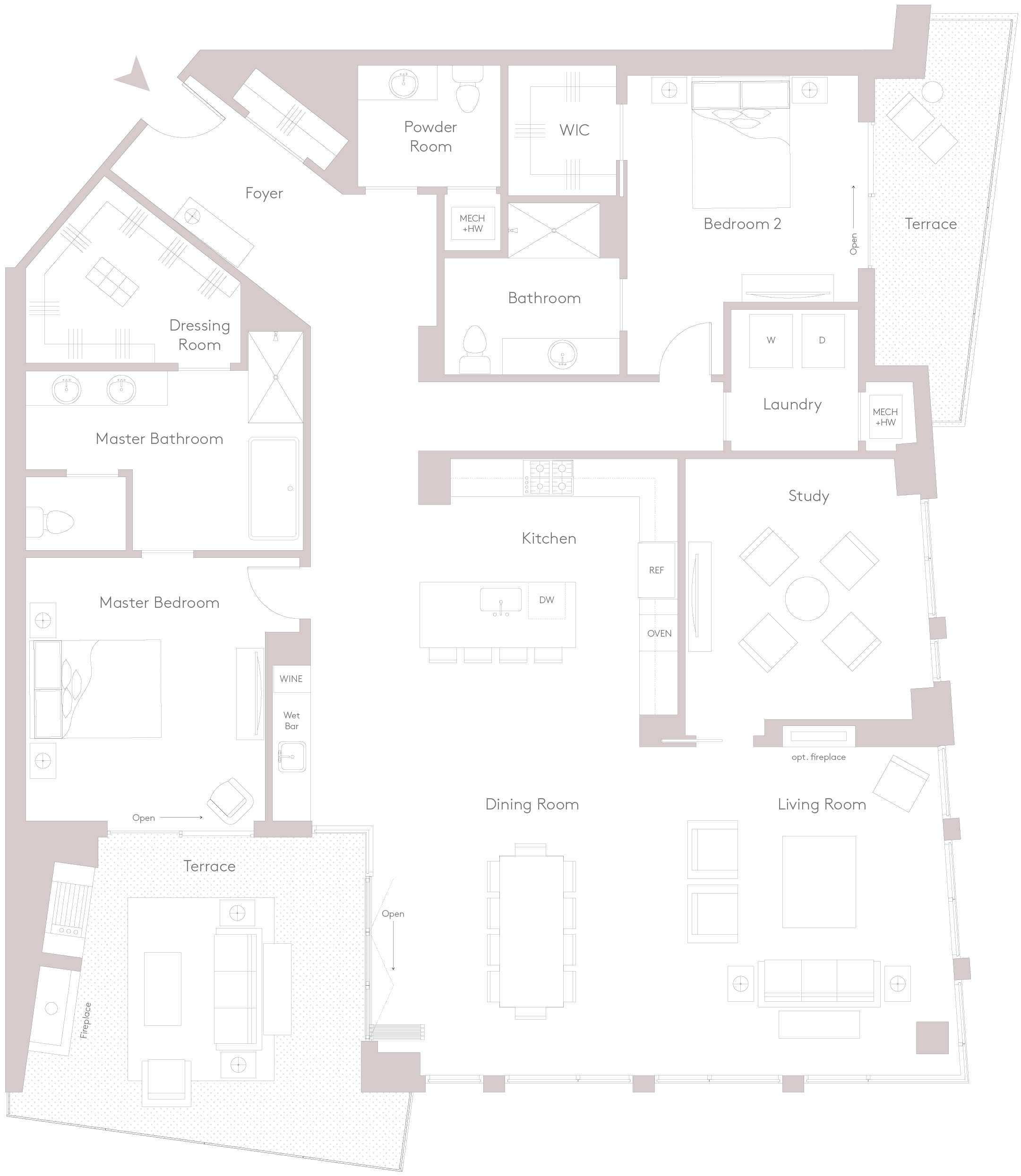 Apartment floor plans at The Charles